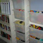 Toys in clean closet